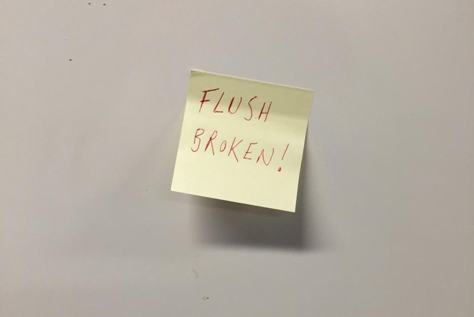Flush broken