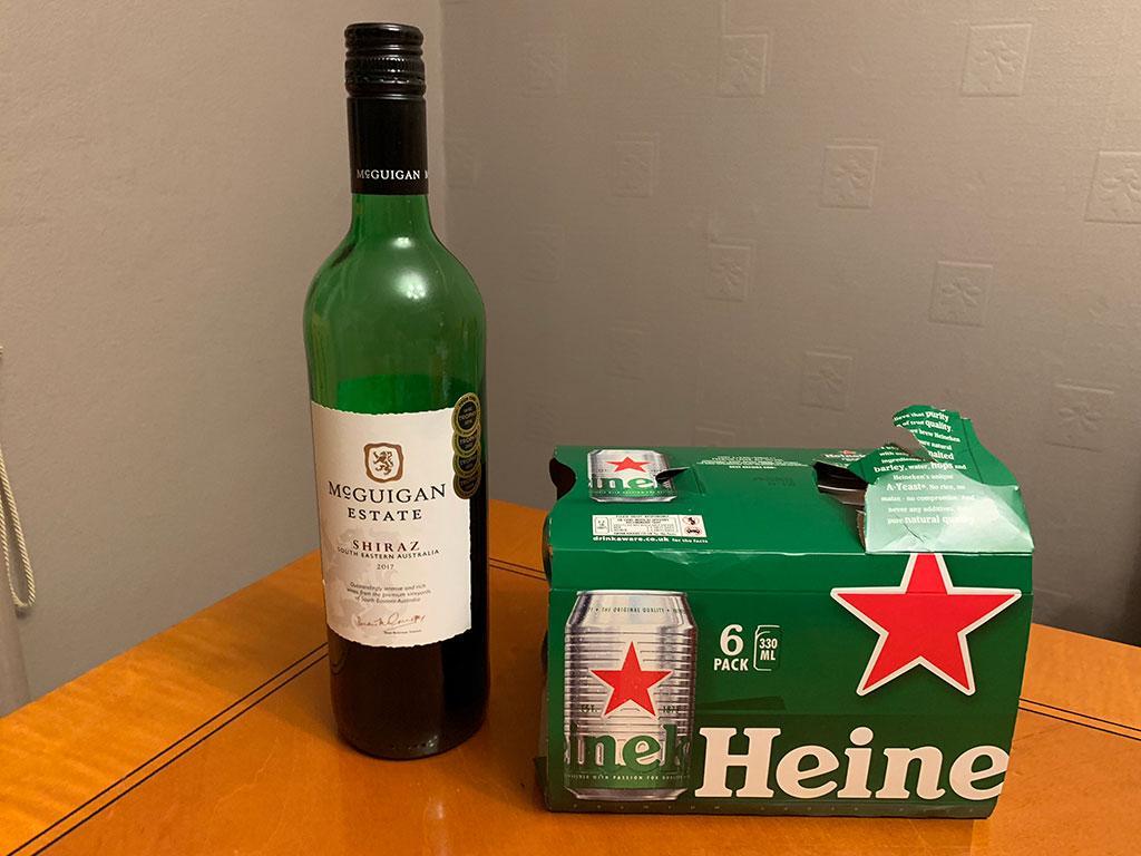 Leftover booze