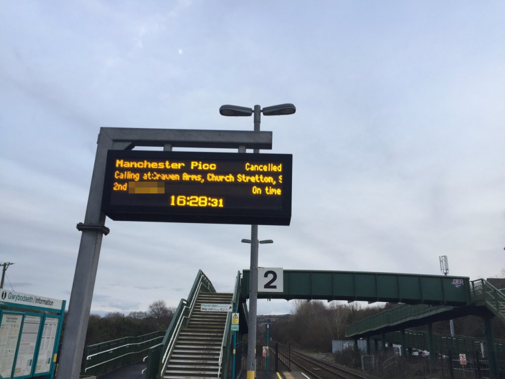 Train cancelled