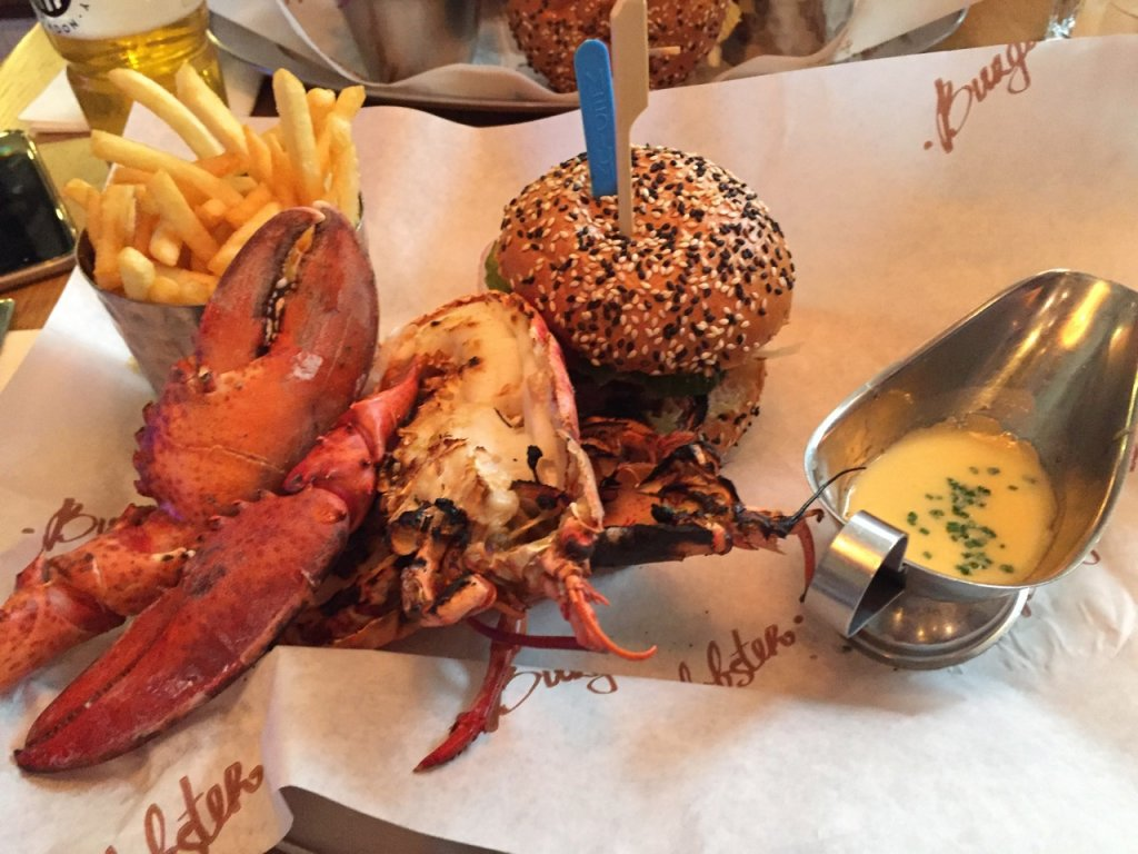 Lobster and burger