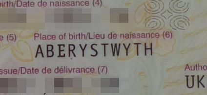 Passport place of birth