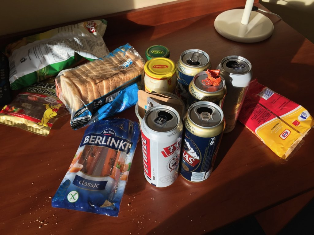 Hotel room feast