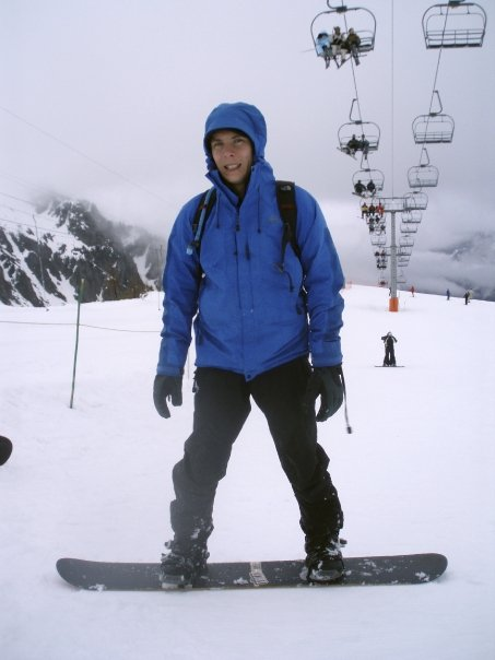 Snowboarding Mont Blanc
