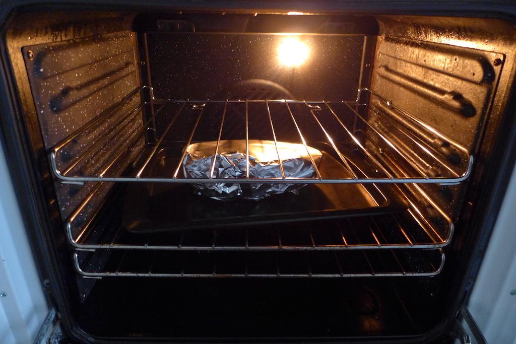 Food in the oven