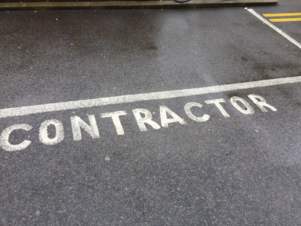 Contractor parking space