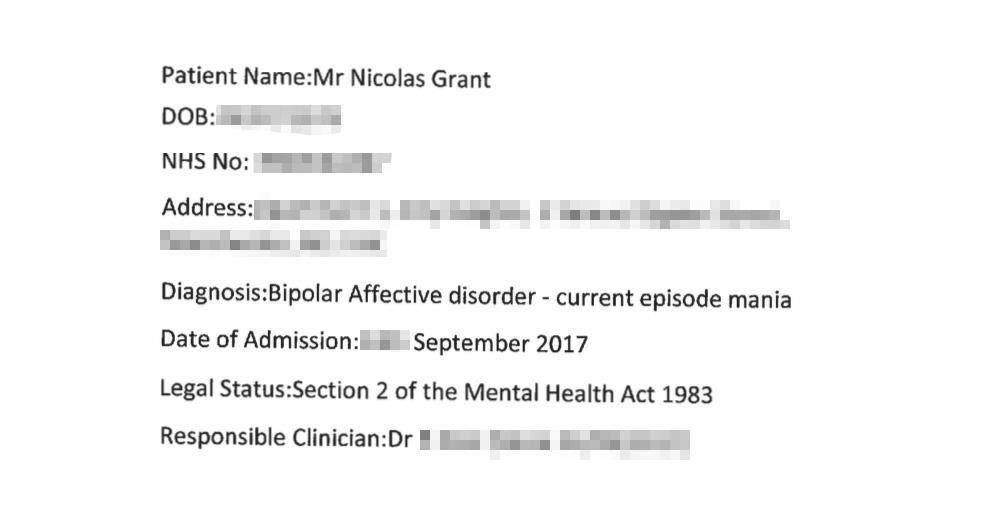 Bipolar diagnosis section