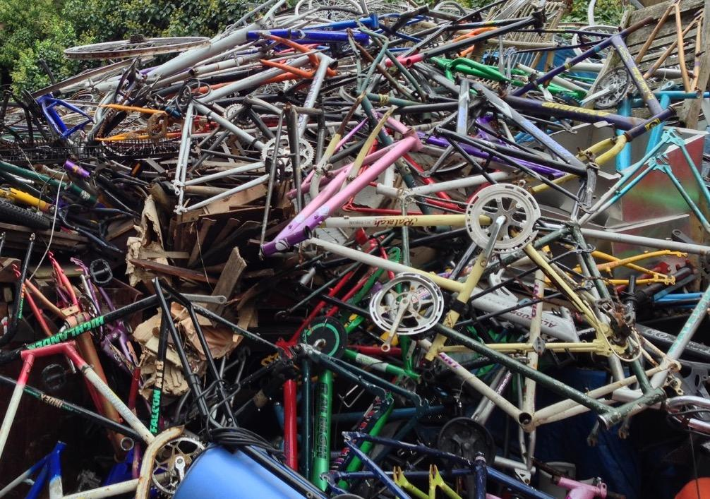 Pile of rusty bikes