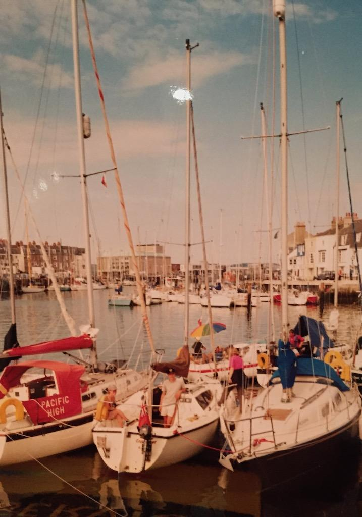 Weymouth harbour yacht