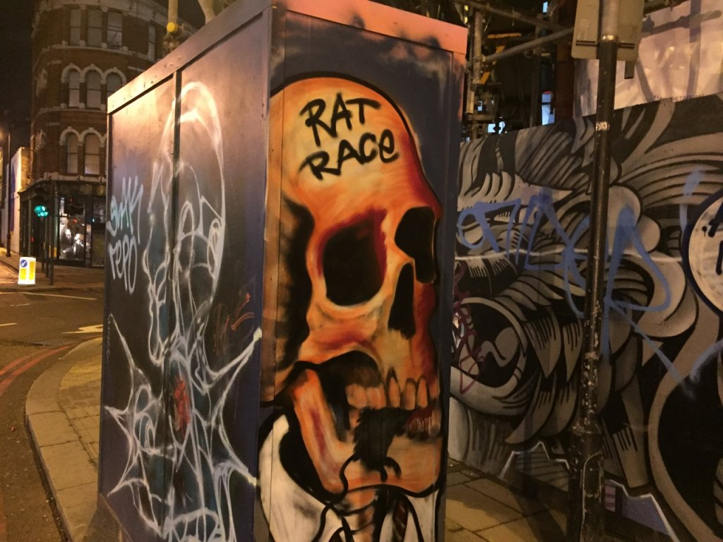 Rat race skull