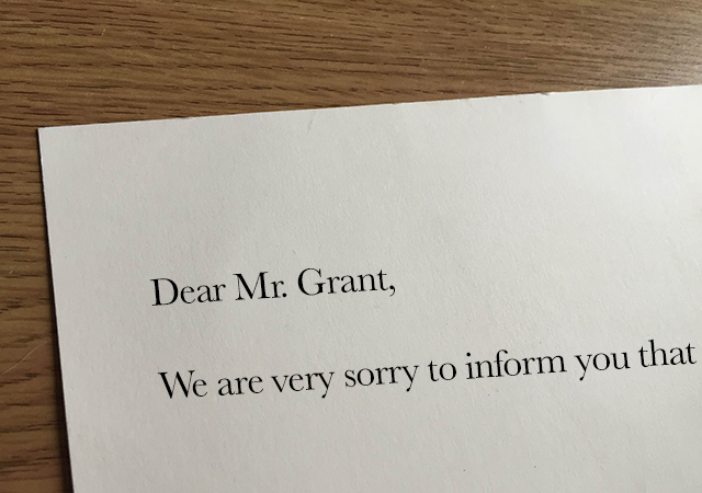 Letter to Mr Grant