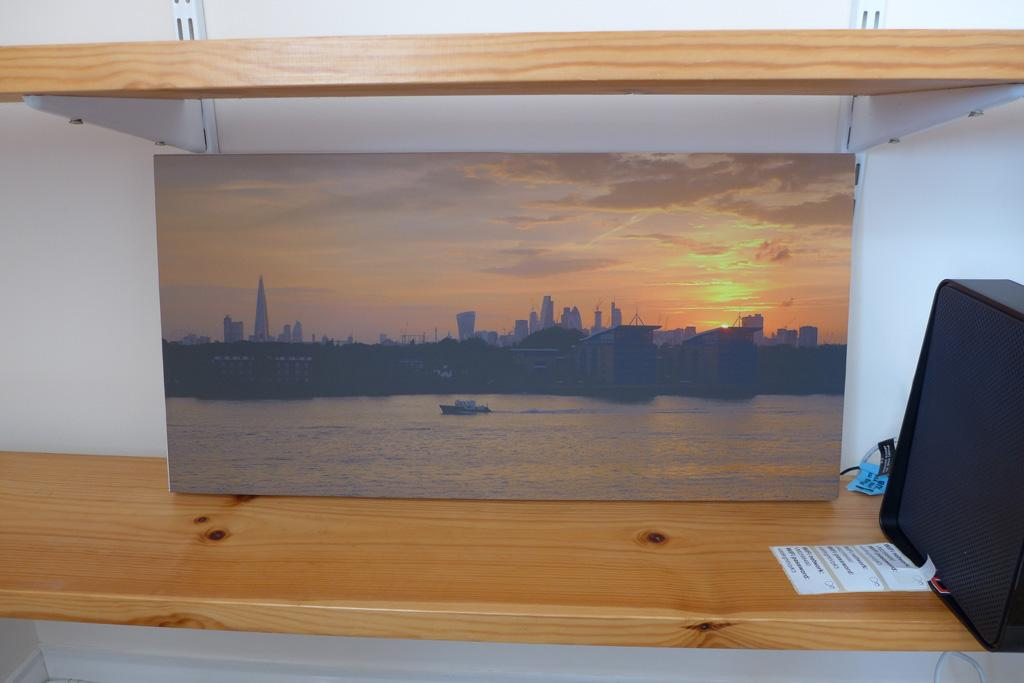 London sunset canvas