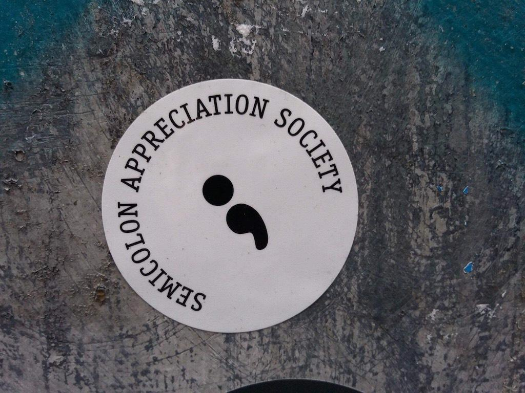 Semicolon sticker