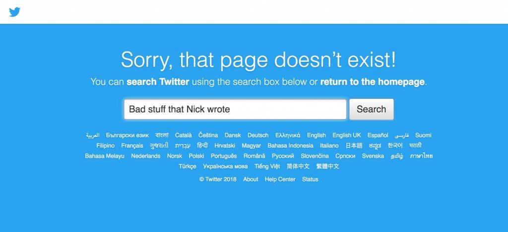 Twitter 404