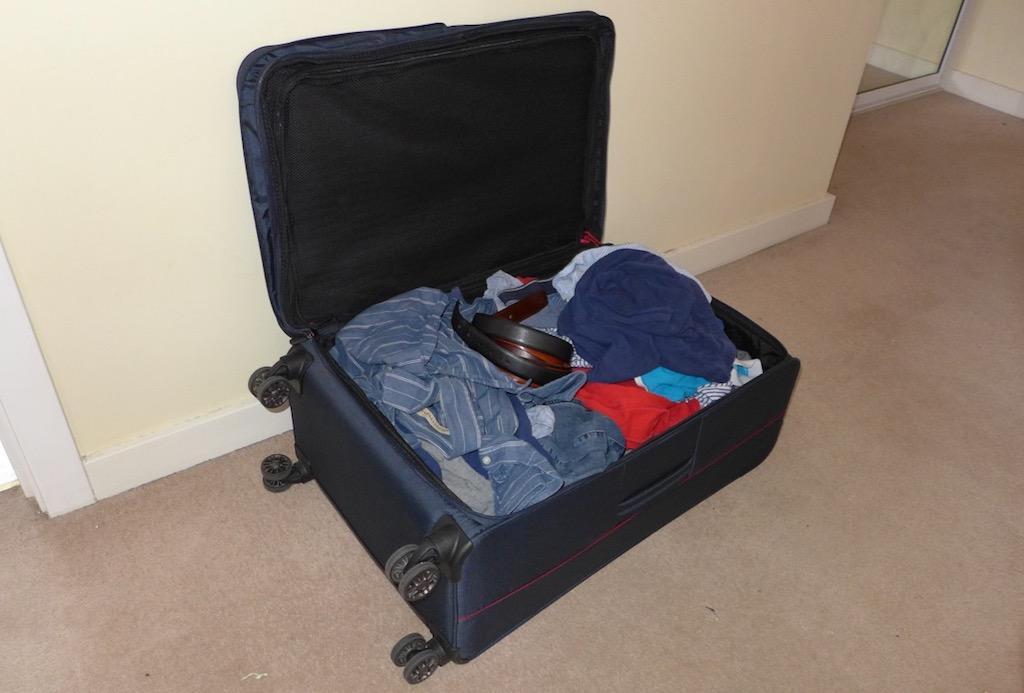 Wheelie suitcase