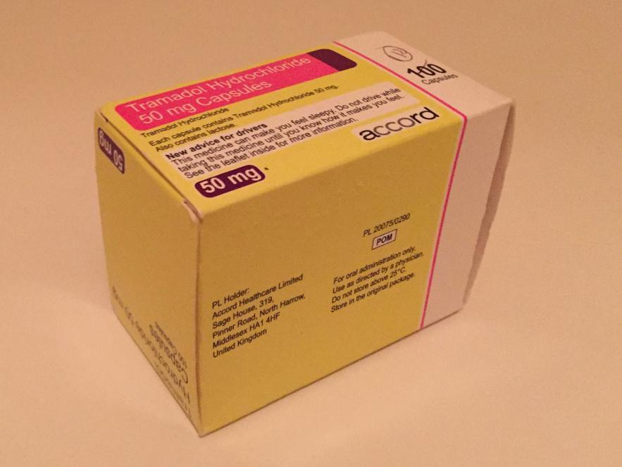 Box of tramadol