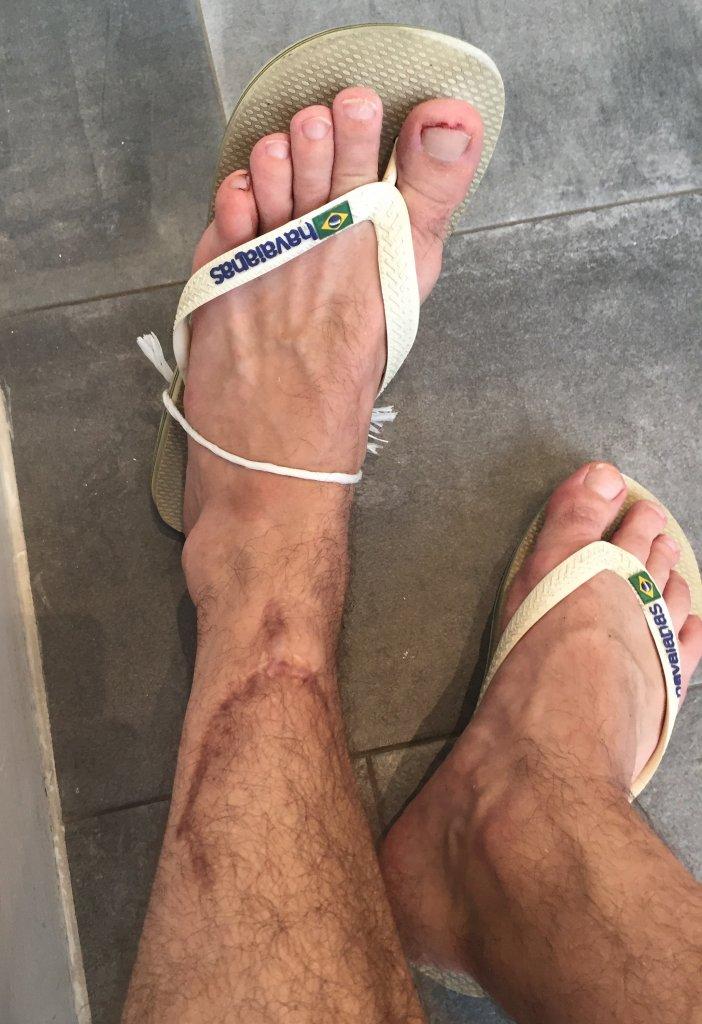 Tied on flip flop