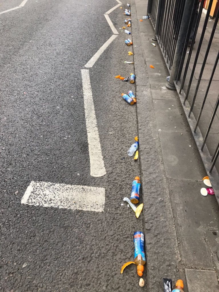 Marathon rubbish
